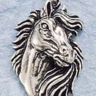 STERLING SILVER JEWELRY HORSE HEAD W/ FLOWING MANE CHARM (ch724)
