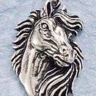 STERLING SILVER JEWELRY HORSE HEAD W/ FLOWING MANE CHARM (ch724)