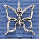 STERLING SILVER JEWELRY OPEN BUTTERFLY CHARM (ch1022)