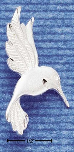 STERLING SILVER JEWELRY SATIN/DC HUMMINGBIRD CHARM (ch1091)
