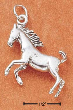 STERLING SILVER JEWELRY RUNNING HORSE CHARM (ch1806)