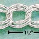 "STERLING SILVER 8"" DOUBLE BEVELED LINK BRACELET (7MM) (br40a)"
