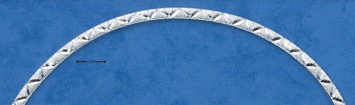 """STERLING SILVER 7"""" CUBETTO W/ V DESIGN BRACELET (br136)"""