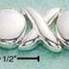 "STERLING SILVER 7"" 8MM LIGHTWEIGHT HUGS & KISSES BRACELET (br457)"