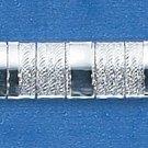 "STERLING SILVER 8"" SATIN & HIGH POLISH STRIPE CUBETTO BRACELET (br665)"