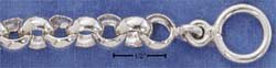 "STERLING SILVER JEWELRY 8"" LARGE ROLO TOGGLE BRACELET (br1598)"