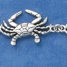 "STERLING SILVER JEWELRY 7"" CRABS LINK BRACELET (br1801)"