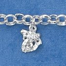 "STERLING SILVER JEWELRY 7"" MINI SEA CREATURES CHARM BRACELET (br1805)"
