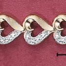 """STERLING SILVER JEWELRY VERMEIL 7"""" ROSE CUT ILLUSION (br2171)"""