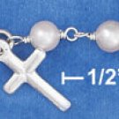 "STERLING SILVER JEWELRY 6""-7"" ADJUSTABLE CHILD'S PEARL LINK BRACELET (br2763)"