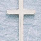 STERLING SILVER JEWELRY  MEDIUM PLAIN CROSS CHARM (ch001)