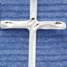 STERLING SILVER JEWELRY SATIN/DC CROSS CHARM (ch1070)