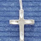 STERLING SILVER JEWELRY SATIN/DC CROSS CHARM (ch1080)