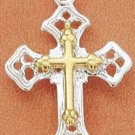 STERLING SILVER JEWELRY TT CROSS WITHIN A CROSS CHARM (ch1650)