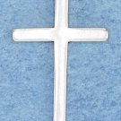 STERLING SILVER JEWELRY MEDIUM HIGH POLISH FLAT SIMPLE CROSS PENDANT (ch1749)