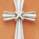 "STERLING SILVER JEWELRY STRIATED CROSS W/ ""X"" CENTER CHARM (ch1759)"