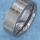 TUNGSTEN STEEL 8MM HIGH POLISH BAND WITH LASER ETCHED LOOSE BRAID (p10620)
