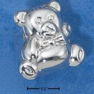 STERLING SILVER JEWELRY  TEDDY BEAR HAIR CURL OR TOOTH FAIRY BOX (UNLINED)  (pn482)