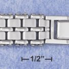 "STAINLESS STEEL 8"" WATCH BAND BRACELET W/DOUBLE ROW SATIN LINKS (br2815)"