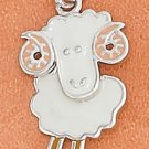 STERLING SILVER JEWELRY RP 13X17MM ENAMEL BIG HORN SHEEP CHARM  (ch3693)