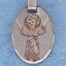 STERLING SILVER JEWELRY HP 21X15MM CHILD JESUS PICTURE CHARM WITH DIAMOND CUT (xx6564)