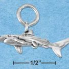 STERLING SILVER JEWELRY THREE DIMENSIONAL SHARK CHARM {p11630}