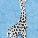 STERLING SILVER JEWELRY THREE DIMENSIONAL GIRAFFE CHARM {P11616}
