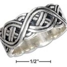 STERLING SILVER MENS ANTIQUED CELTIC BAND RING {sr1031}