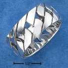 STERLING SILVER 10MM OPEN BASKETWEAVE BAND RING {sr1879}