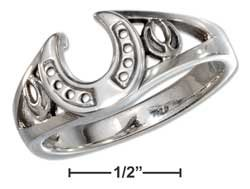 STERLING SILVER HORSESHOE RING  {sr2283}