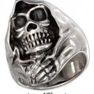 STERLING SILVER MENS HOODED SKULL RING {sr3031}