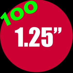 """100 - 1.25"""" Buttons"""