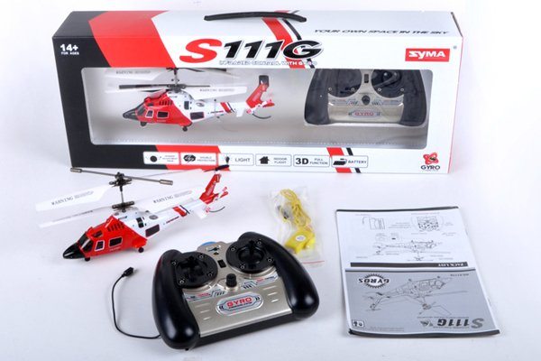 Syma S111G U.S Coast Guard RC Helicopter w/ Built in Gyro