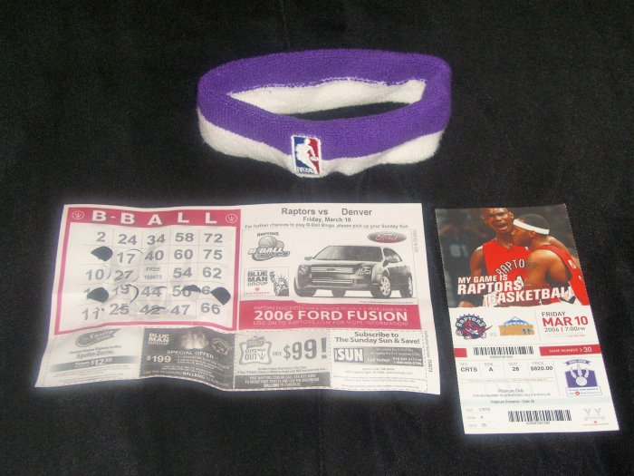Morris Peterson Game Worn Official NBA Headband! 6 Days Only!