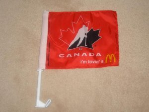 Team Canada Collectible Flag! New!
