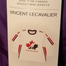 Team Canada All New & Highly Collectible Mini Jersey of Vincent Lecavalier #4