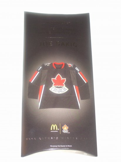 Team Canada All New & Highly Collectible Mini Jersey of Joe Sakic # 91