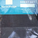 NAVY BLUE QUEEN FITTED SHEET SET - NEW - 180TC