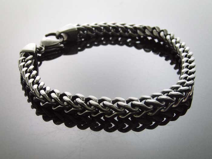 "Men's Jumbo 8mm Franko Steelness steel 10"" Bracelet"