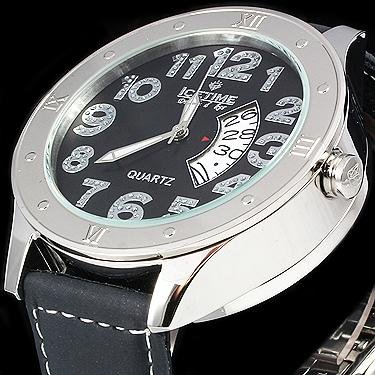 IceTime 20 Diamond Double Decker 48mm Watch Silver Face