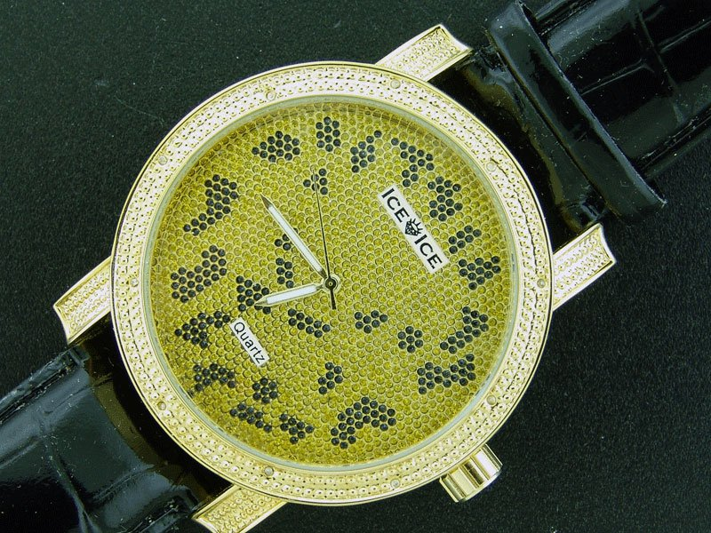 Ice Ice By Icetime 50M 0.10CT Diamond Yellow Gold watch
