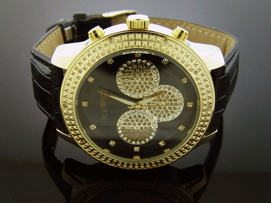 New Ice Ice By Icetime 45 MM10 Diamond Yellow Gold Case