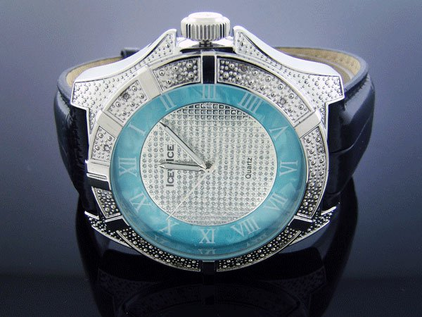 Ice Ice By Icetime 52 MM 10 Diamond Silver face Watch