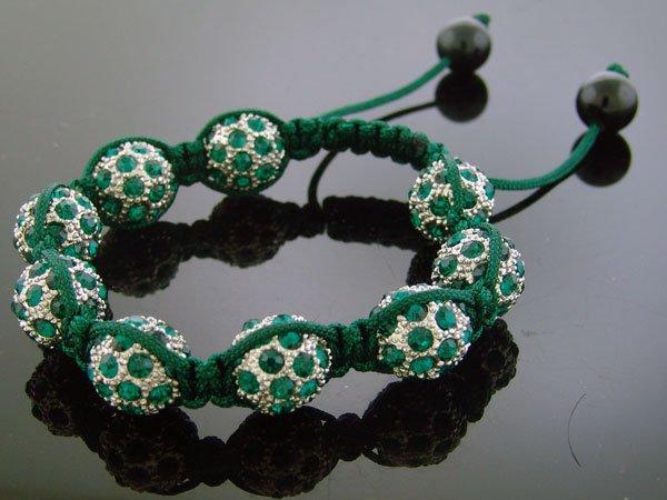 Unisex Big Bead CZ Shamballa Bracelet 12MM 8Inch