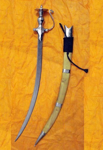 (SHIPPING INCLUDED) 2.5' Special Sarabloh Tahli Wood Cover Kirpan