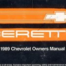 1989 Chevrolet Beretta Owner's Manual - AM0015