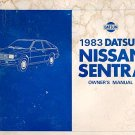 1983 Nissan Sentra Owner's Manual - AM0007