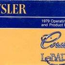 1979 Chrysler Cordoba-LeBaron Owner's Manual - AM0061