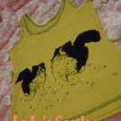 The black cat yellow vest