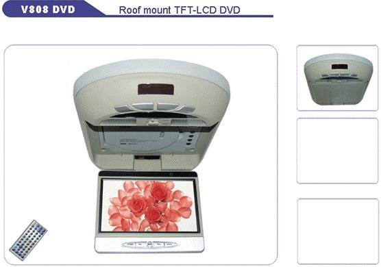 Roof mount 8inch SHARP TFT LCD panel 16:9, with DVD Player, Car